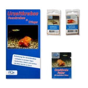 Triops-cancriformis 2er-Set naturfarbend und rote Variante UZK-TLNR Zuchtansatz