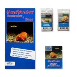 Triops-longicaudatus 2er-Set naturfarbend und rote Variante UZK-TLNR Zuchtansatz