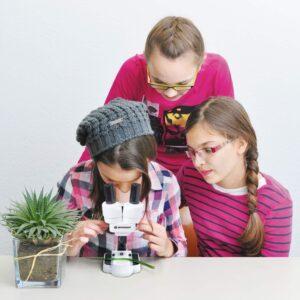 Bresser Junior Auflicht- und Durchlichtmikroskop 50x Biolux ICD Pro
